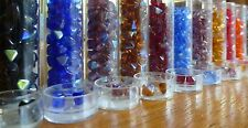 Tube of Gutermann Pyramid Glass Beads ~ 6mm ~ in a Variety of Colours
