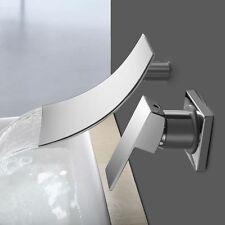 Bathroom Bathtub Waterfall Faucet Basin Sink Chrome Wall Mounted Roman Mixer Tap
