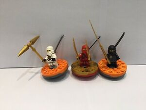 lego ninjago Spinners 3 Minifigures With Spinners