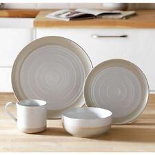 Heart Of House Purton 16 Piece Stoneware Dinner Set   White