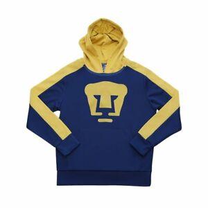 Pumas UNAM Blue Side Step Pullover Hoodie Sweatshirt - YOUTH