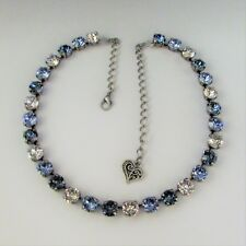 Cup Chain Necklace With Genuine Swarovski Crystal