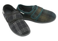 Dunlop Mens Slippers Slip On Easy Fastening Strap Machine Washable Sizes 7-12
