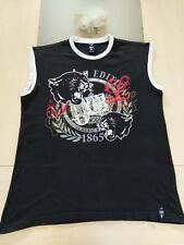 T-shirt sans manches noir imprimé devant Tribal Zone, taille 170/176