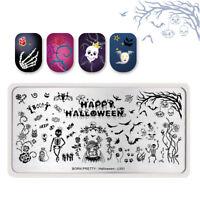 BORN PRETTY Halloween Nail Stamping Plates Skull Ghost Nail Art Image Templates