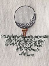 Vintage USA 80'S Mc BRIAR Huge GOLF Woven Front Men's SWEATER Embroidered Logo M
