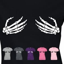 Costume Fancy Inspired Dress 2 Skelleton Hand Ladies Present Women T-shirt