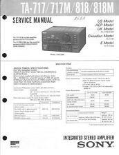 Sony Original Service Manual für TA-717/M/818/M
