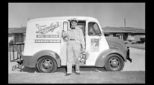 Vintage Ice Cream Truck Milk Truck Photo 1953 Townley's Dairy Delivery Man