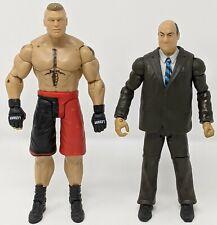 WWE Battle Pack 25 Brock Lesnar Paul Heyman Wrestling Figure Lot UFC