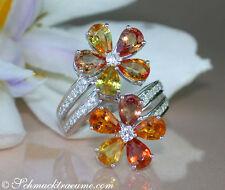 Echte Edelstein-Ringe mit Saphir und Tropfen für Damen