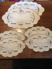 Vintage Linen Doilies Lot Of Six