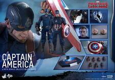 Hot Toys 1/6th Civil War Captain America Steve Rogers New Sculpt MMS350 CHEAP