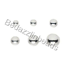 100 Smooth Shiny Silver Plated Over Brass Base Metal Round Spacer Ball Beads