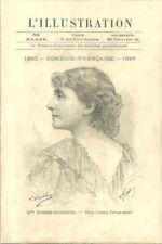 L'Illustration Programme théatre Comédie Française 1896 Worms Barretta