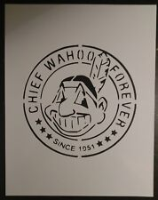 """Cleveland Indians Chief Wahoo Forever 8.5"""" x 11"""" Stencil FAST FREE SHIPPING"""
