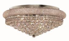 """World Capital Bangle 28"""" 15 Light Crystal Chandelier Flush Mount Light Chrome"""