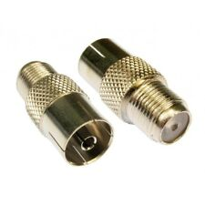 F Type Connector Socket to RF Coax Aerial Female Adapter F-F Satellite Coaxial