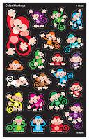 168 Colour Monkeys SuperSpots Reward Stickers - For Progress Charts