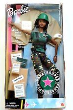 "Barbie Paratrooper Mattel AAFES Special Edition African Black figurine 11"" New"