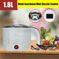 Mini Electric Cooker Small Slow Cooker Crock Pot Kitchen Appliance White Steel