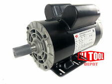 "5 HP Single Phase 3450 RPM 56 Frame 230V 22Amp 7/8"" Shaft NEMA Motor"