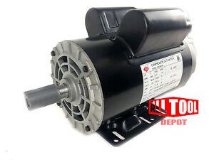 "5 HP Single Phase 3450 RPM 56 Frame 230V 22Amp 7/8"" Shaft NEMA Motor"