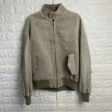 VINTAGE Cooper Suede Leather Jacket  Mens Medium Beige Soft Bomber