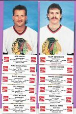 BLACKHAWKS 30 POST CARD LOT VINTAGE NHL HOCKEY COCA-COLA COKE