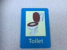 SELF ADHESIVE TOILET SIGN IN ACRYLIC/ PERSPEX, SCHOOL, CARE RESIDENTIAL HOME