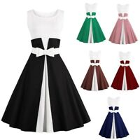 Womens 50s 60s Vintage Rockabilly Pinup Retro Evening Party Cocktail Swing Dress