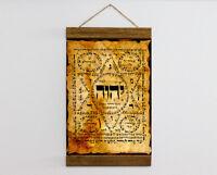 "Judaica Shiviti Canvas Ancient Hebrew Kabbalah Talisman Amulet Charm 8.7"" x11.8"""