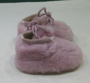 new ugg  pink fluffy shoes toddler size 1