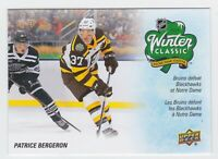 19/20 TIM HORTONS...WINTER CLASSIC..BRUINS DEFEAT BLACKHAWKS AT NOTRE DAME..SE-5