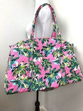 Vera Bradley Large Duffel Bag Tropical Paradise Travel Pink Floral