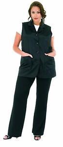 Plus Size Vented Mesh Back Salon Stylist Vest Betty Dain 3X Black 3X (26-28W)