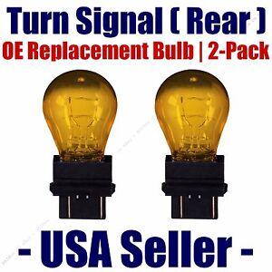 Rear Turn Signal/Blinker Light Bulb 2-pack Fits Listed Jeep Vehicles - 3757NAK