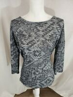 Women's Maurices 3/4 Sleeve Aztec Print Top Size Large