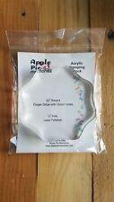 Apple Pie Acrylic Block 3-1/2 inches Round
