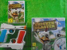 wii CHICKEN BLASTER + 2 NEW Wii GUN Attachments Fun Shooting Game PAL UK