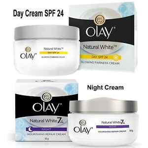 Olay Natural White 7 IN ONE Nourishing Night Repair Cream / Day Cream SPF24 50gm