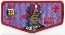 OA Lodge # 313 Tankiteke---Merged 1999 S-18 Red Bdr; Joseph Brant