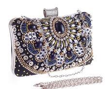 Heavily Hand-embellished Crystal &  Beading Vintage Clutch Handbags