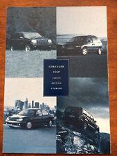 CHRYSLER JEEP 1996 RANGE CAR BROCHURE CHEROKEE WRANGLER GRAND VIPER VOYAGER NEON