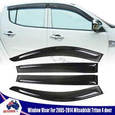 Premium Smoke Weather Shield Window Visor Set of 4 For Mitsubishi Triton 05-14