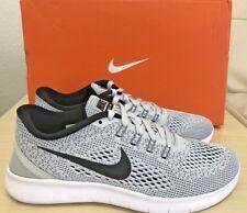 5effd0c65102 NIKE Mens Free RN Running Shoes White Black Pure Platinum 831508 101 SZ 6.5