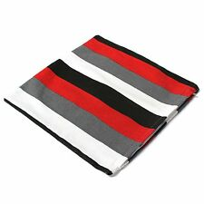 Pillow 40x40 Pillow cotton pillowcase White - gray - red - black stripes X1V3