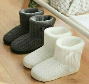 Women Slippers Ankle Boots Winter Warm Indoor Padded Thick Plush Home Shoes New