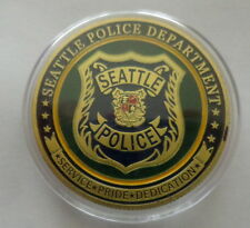 Seattle Police Department     24K GOLD  PLATED 40 mm  Challenge  COIN