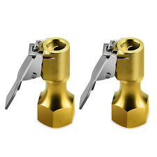 New 2 Pack Open Flow Straight Lock-On Air Chuck with Clip for Tire Inflator